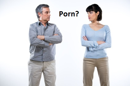 Husband, Wife, Porn : Husband watches porn
