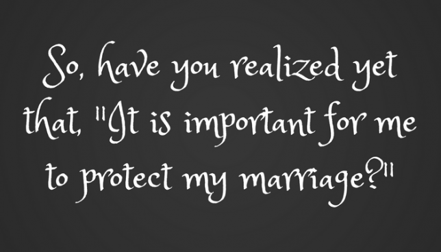 how to protect my marriage