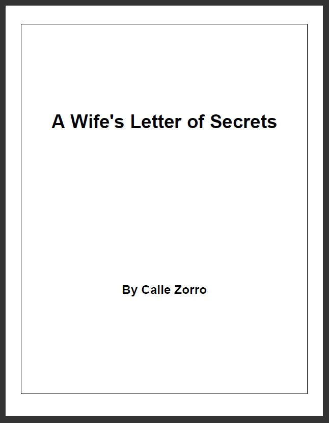 A Wife's Letter of Secrets
