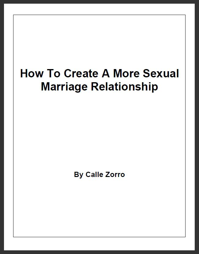 How To Create A More Sexual Marriage Relationship