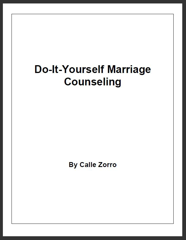 Do-It-Yourself Marriage Counseling