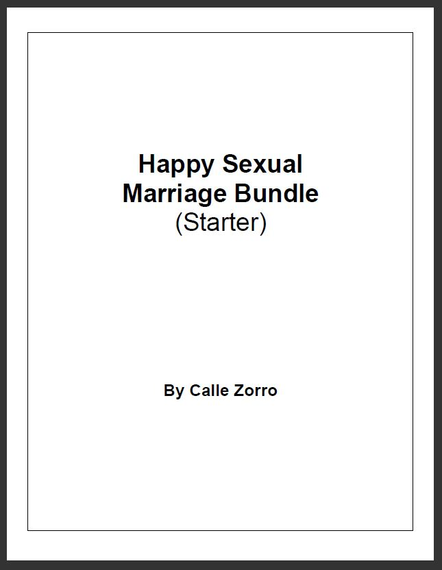 Happy Sexual Marriage Bundle - Starter