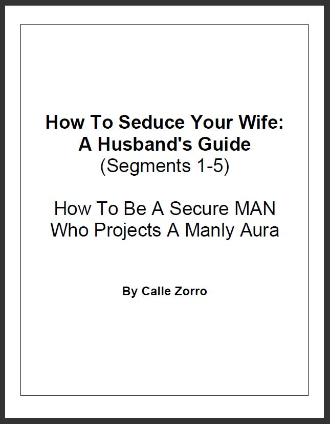 How To Seduce Your Wife: A Husband's Guide (Segments 1 – 5 – How To Be A Secure, Charismatic MAN Who Projects A Manly Aura)