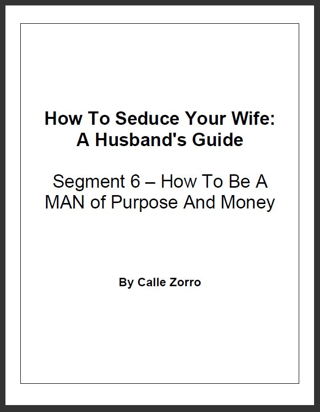 How To Seduce Your Wife: A Husband's Guide (Segment 6 – How To Be A MAN Of Purpose And Money)