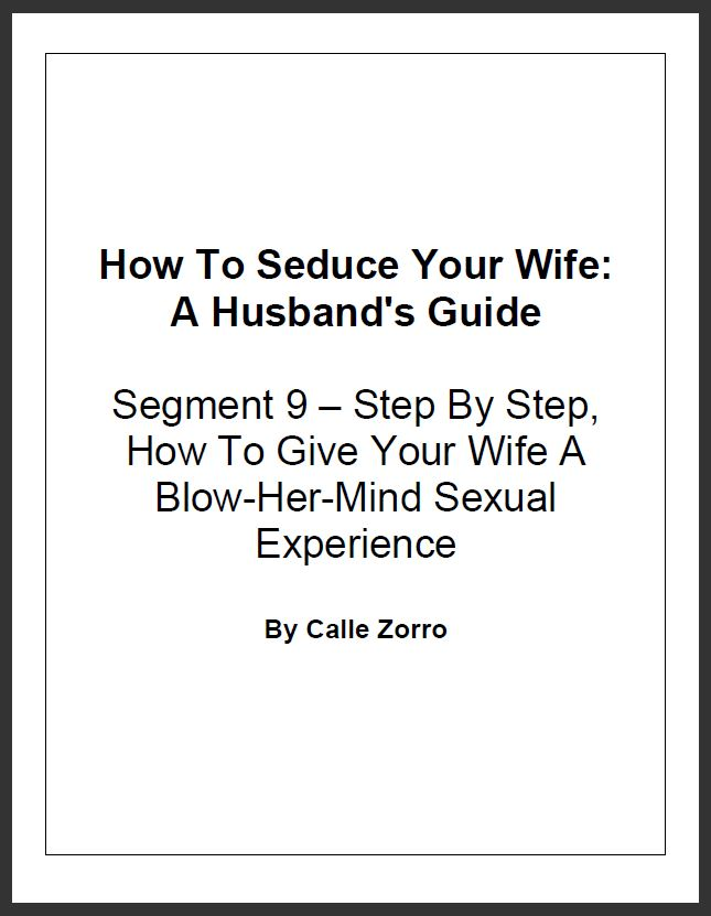 "How To Seduce Your Wife: A Husband's Guide (Segment 9 – Step By Step, How To Give Your Wife A Blow-Her-Mind Sexual Experience - And Do Some ""Fun"" Things To And With Her That She Wouldn't Normally Let You Do)"