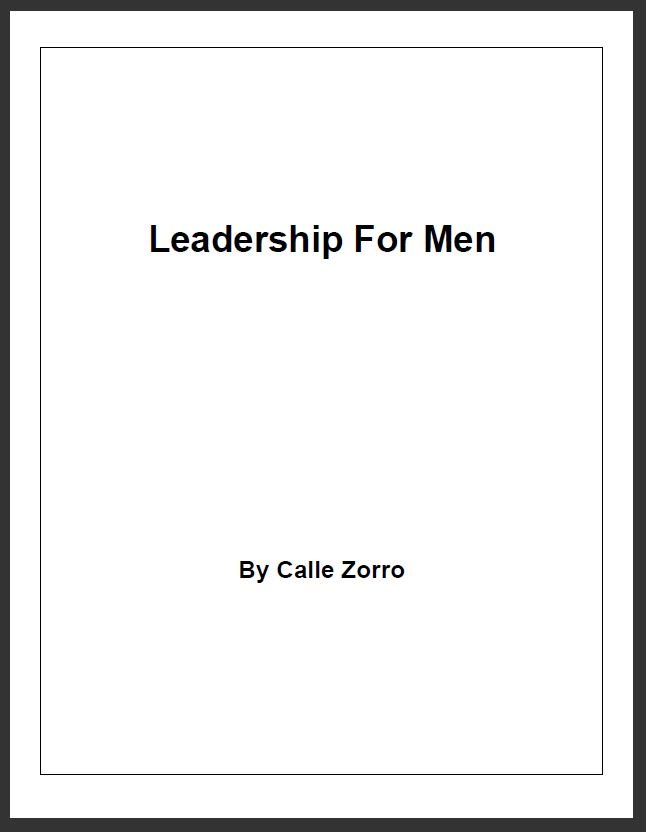 Leadership For Men