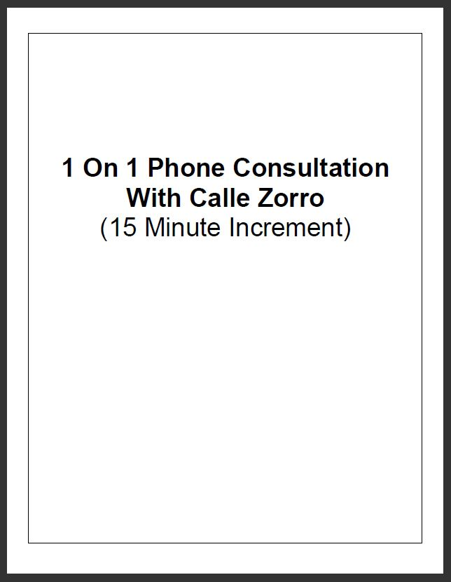 1 on 1 Phone Consultation - 15 minutes